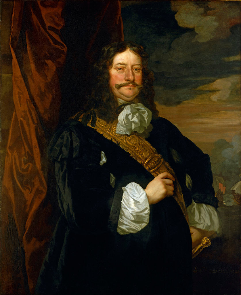 Detail of Flagmen of Lowestoft: Vice-Admiral Sir Thomas Teddeman (1620-1668) by Peter Lely