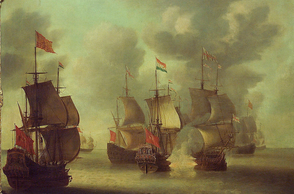 The 'Amelia' Engaging English Ships, June 1639 by Jan van Leyden