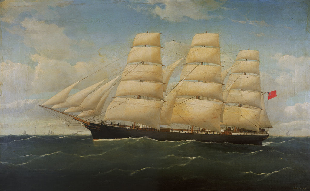 Detail of The ship 'Barossa' by F. Tudgay