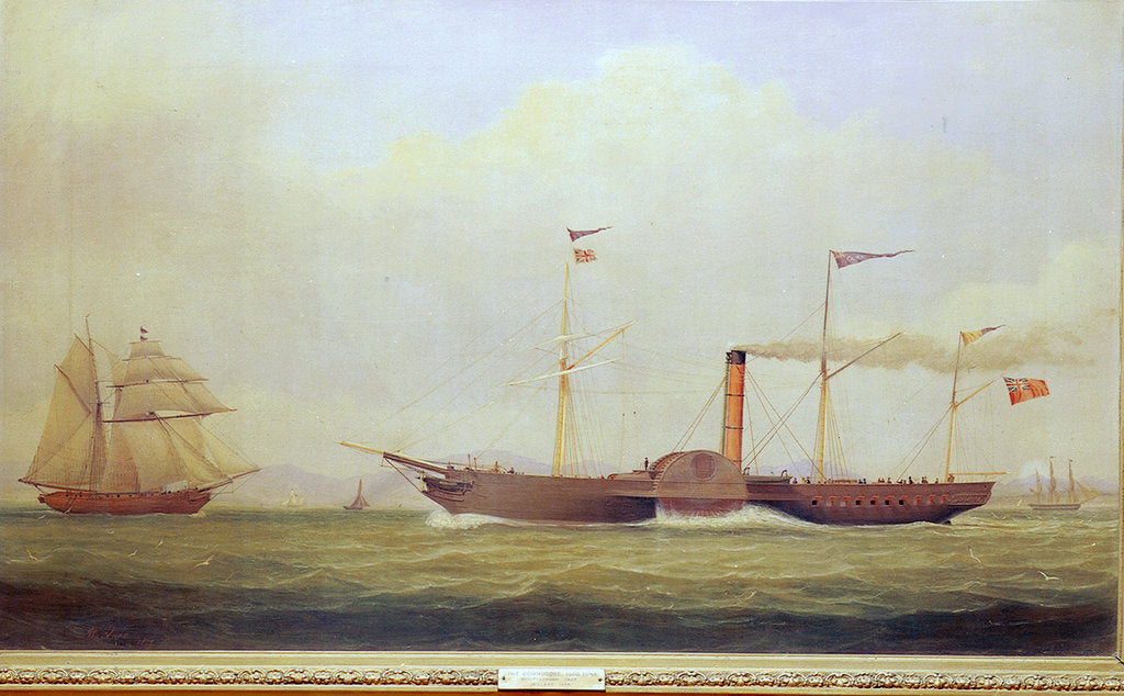Detail of The paddle steamer 'Commodore' by William Clark