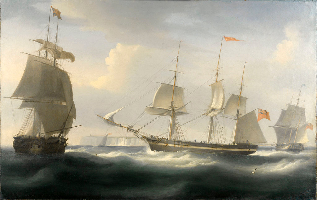 Detail of The ship 'Delaford' by William John Huggins
