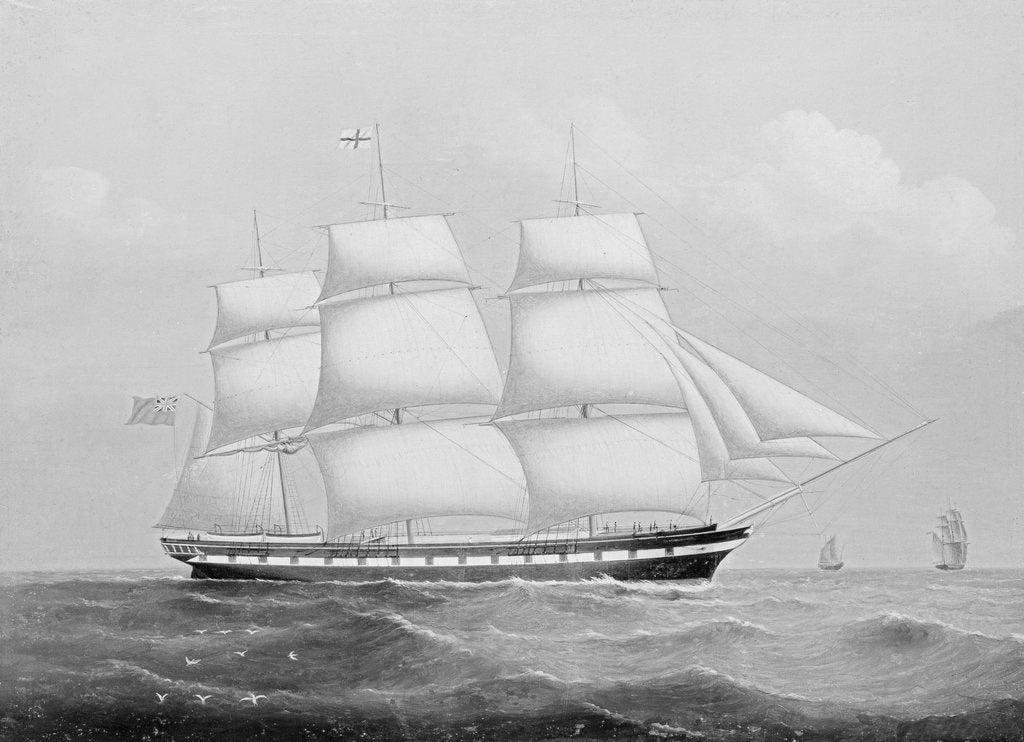 Detail of The ship 'Ellenborough' by unknown