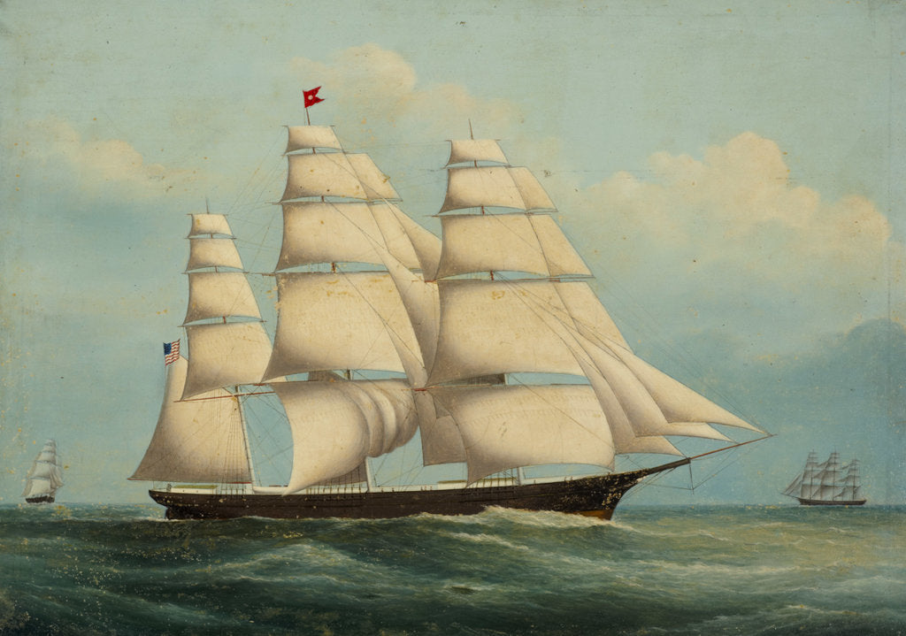 Detail of The clipper Flying Cloud by American School