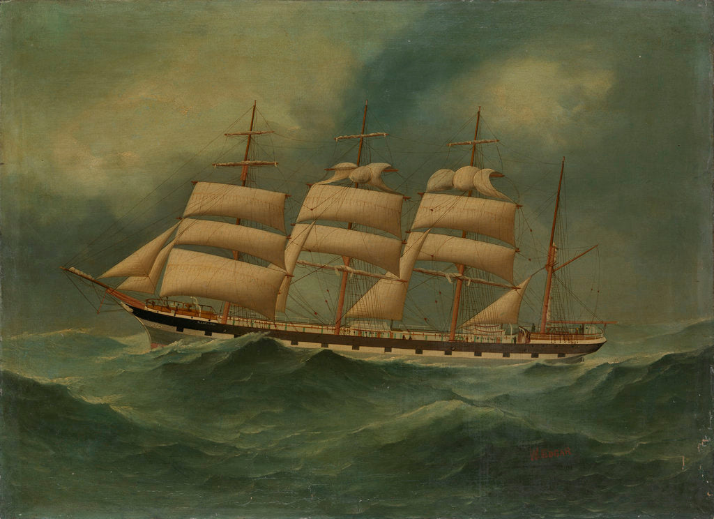 Detail of The ship Glencairn by W. Edgar