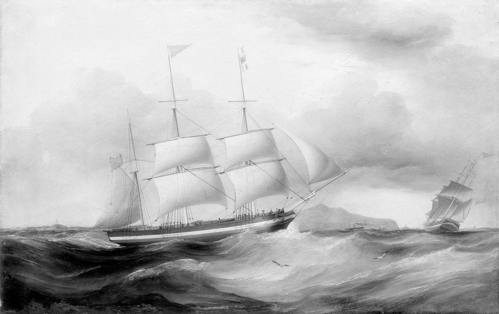 The barque 'Helvellin' (1826) by Samuel Walters