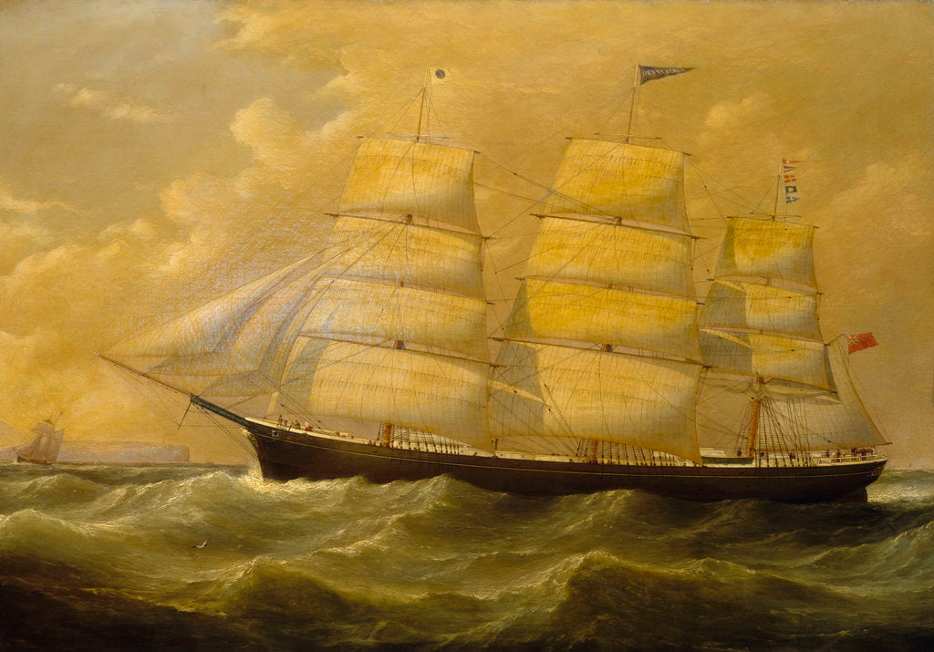 Detail of The ship 'Henry Fernie' by J Witham
