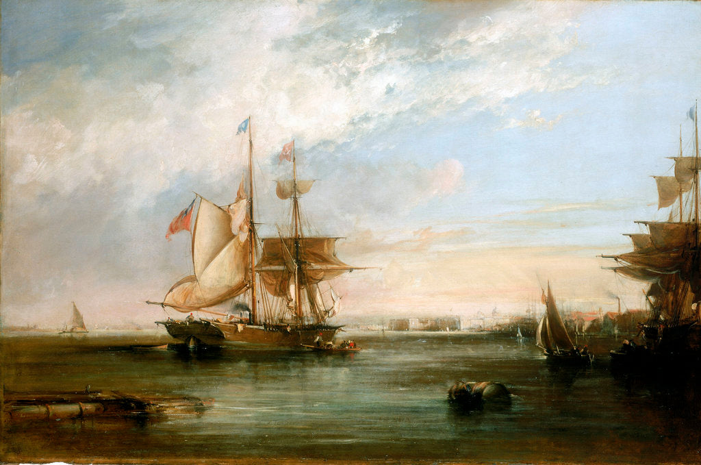 The yacht 'Isabel' Lying off Deptford by George Chambers the Elder