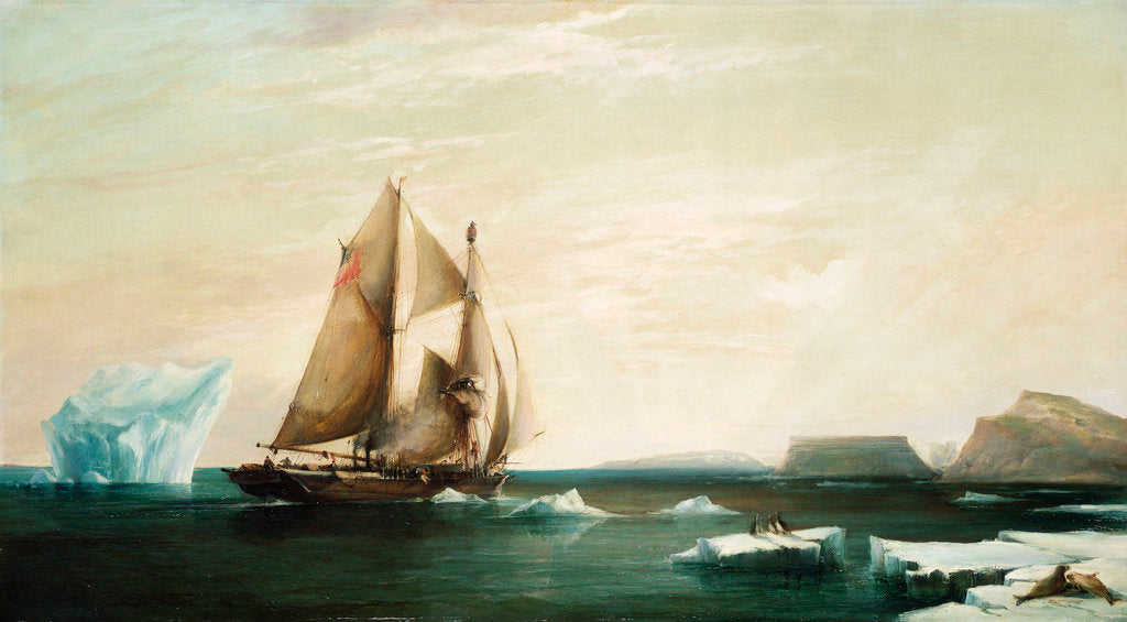 Detail of The yacht 'Isabel' on the first voyage into Smith Sound by George Chambers the Younger