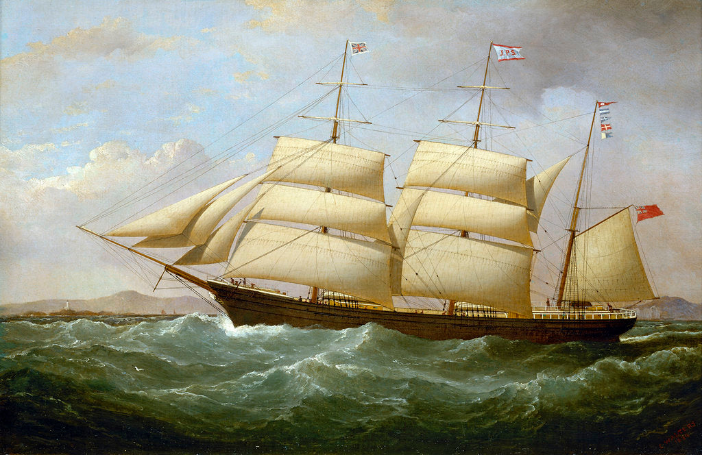 Detail of The barque 'Joseph Cunard' by Samuel Walters