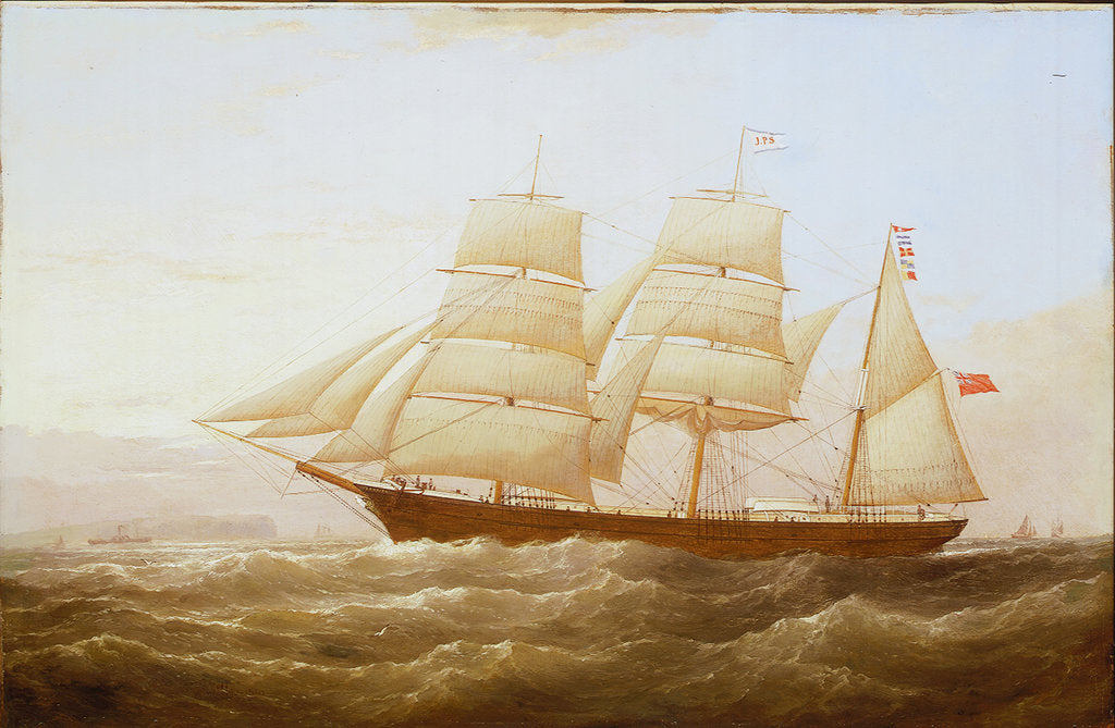 Detail of The barque 'J P Smith' by Samuel Walters