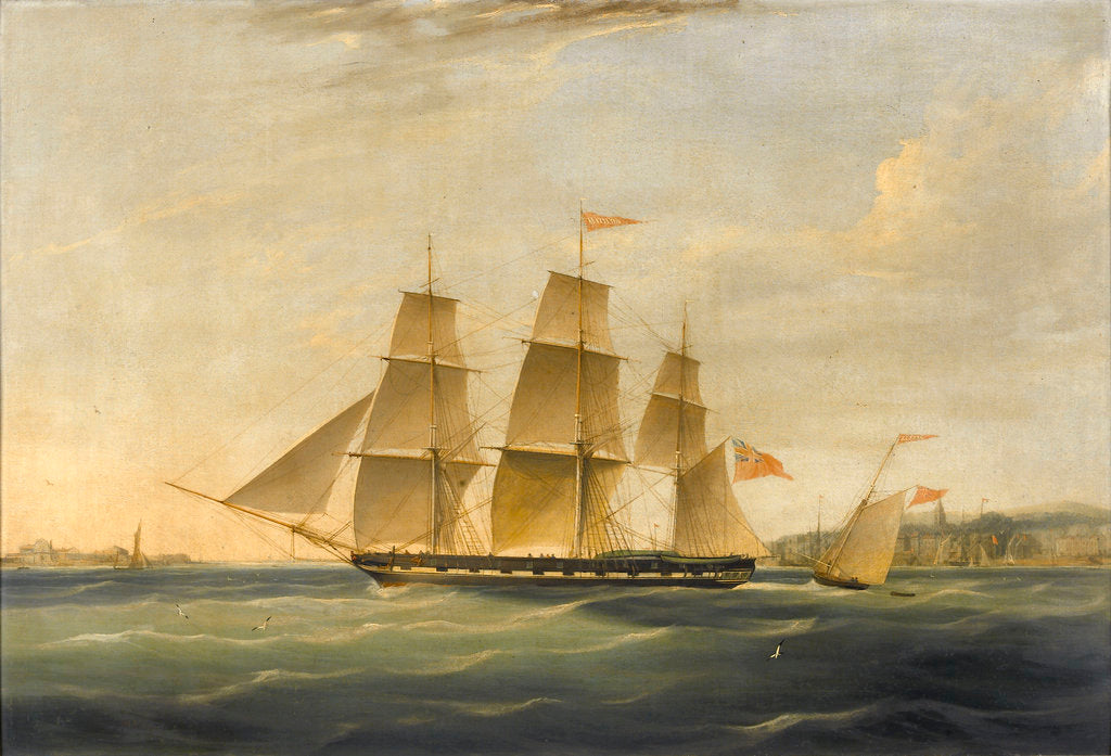 Detail of The ship 'Matilda' and cutter 'Zephyr' by James Miller Huggins