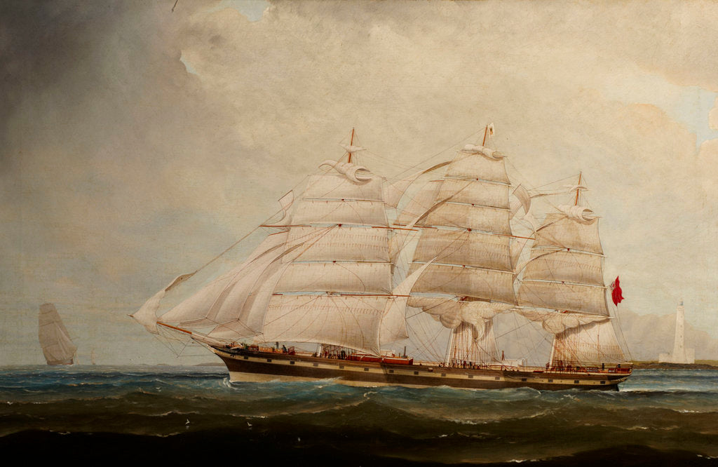 Detail of The ship Mermerus by 19th Century British School