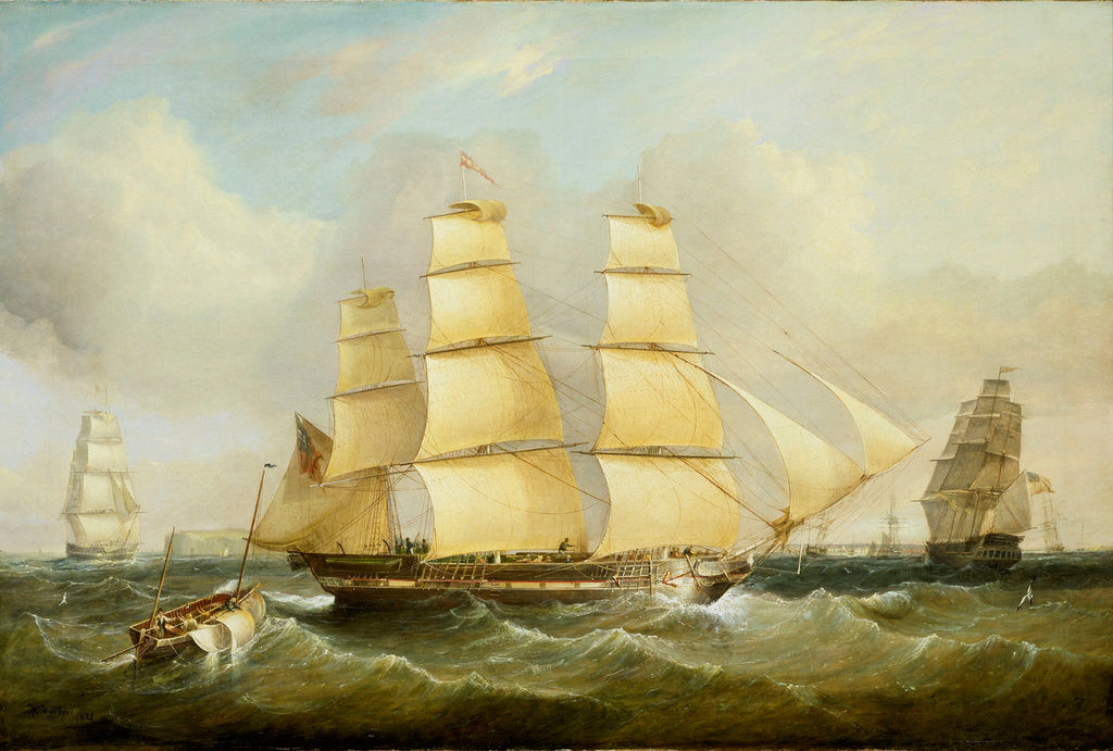 Detail of The ship 'Morley' and other vessels by William Adolphus Knell