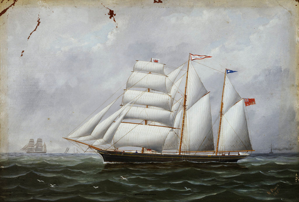 Detail of The schooner 'Ocean Swell' by W. Pearn