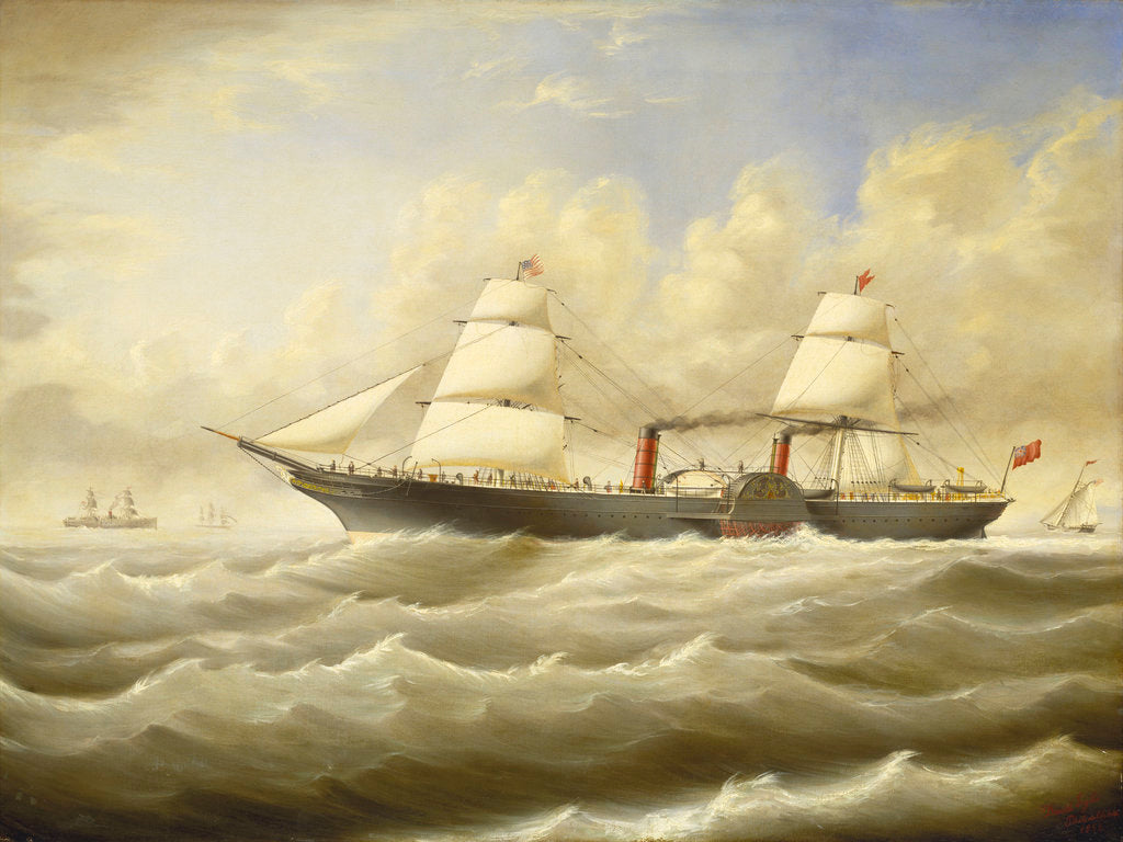 Detail of The steamship 'Persia' in a breeze by D. Lyle