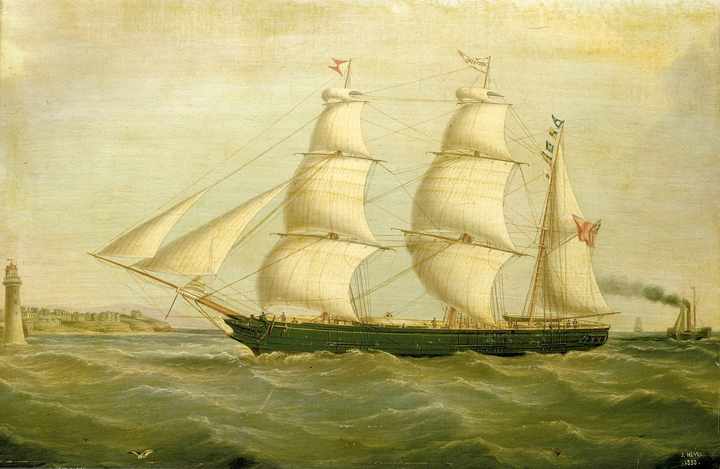 Detail of The barque 'Queen Bee' by Joseph Heard