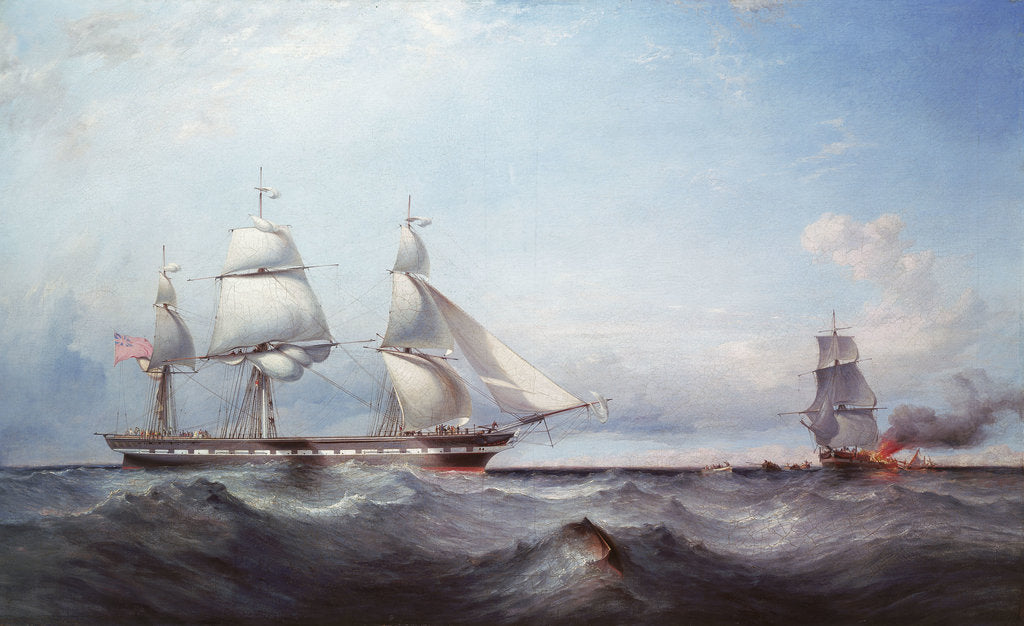 Detail of The ship 'Roxburgh Castle' by James Harris