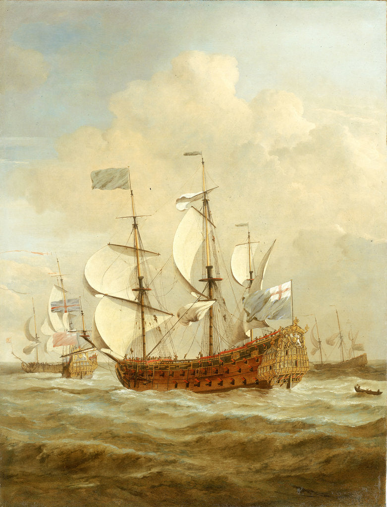 Detail of HMS 'Saint Andrew' at Sea in a moderate breeze by Willem Van de Velde the Younger