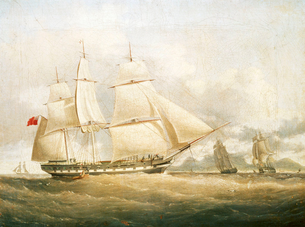 Detail of The ship 'Sir Edward Paget' (1822) by William John Huggins