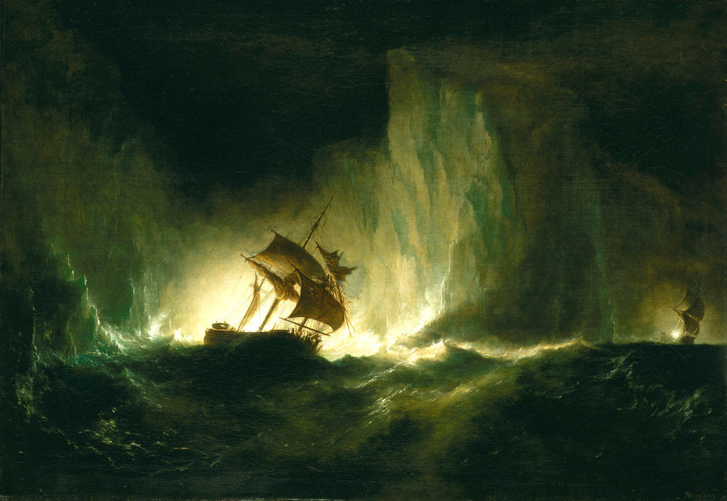 Detail of HMS 'Erebus' passing through the chain of bergs, 1842 by Richard Brydges Beechey
