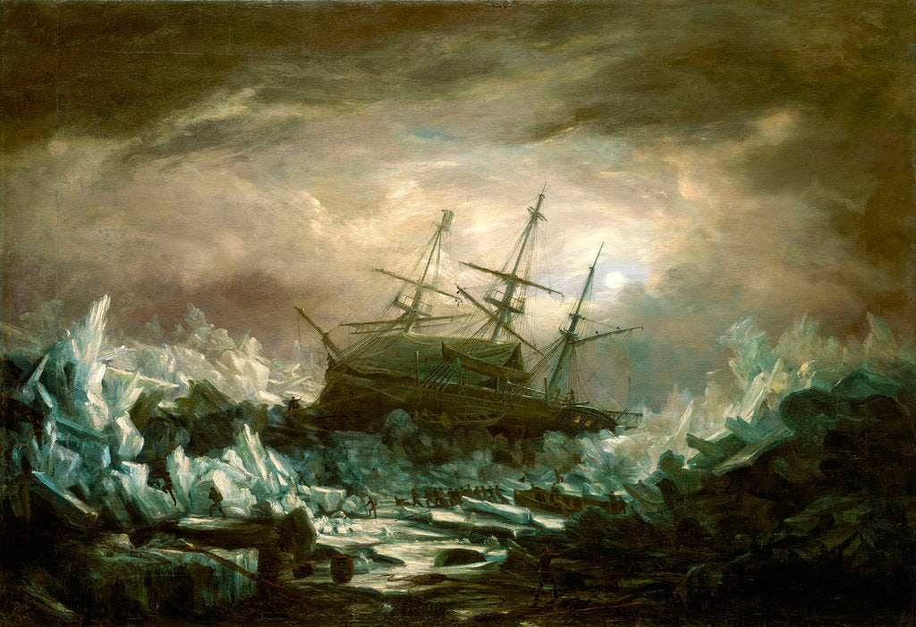 Detail of Perilous position of HMS 'Terror', Captain Back, in the arctic regions in the summer of 1837 by William Smyth