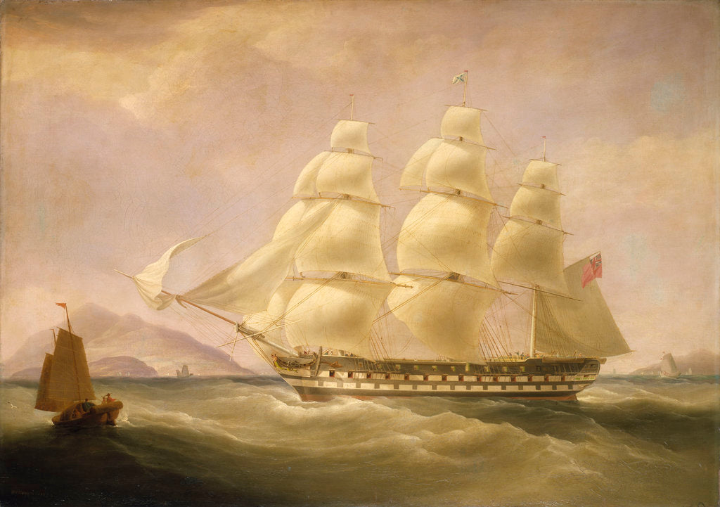 Detail of The East Indiaman 'Triton' by William John Huggins