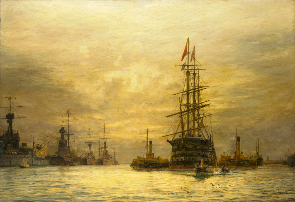 Detail of The last voyage of 'HMS Victory', 1922 by William Lionel Wyllie
