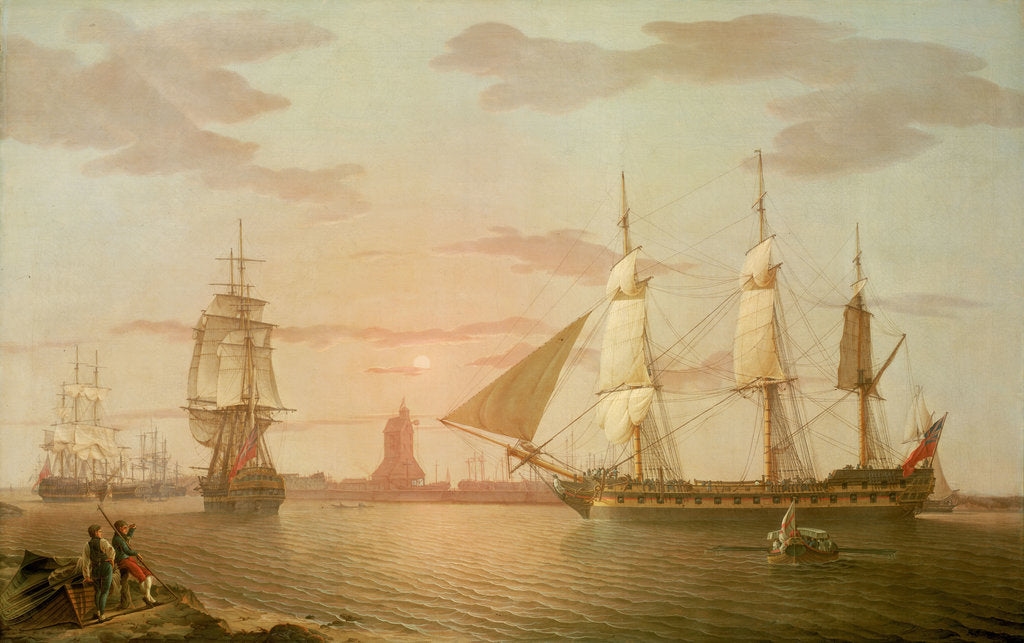 Detail of The East Indiaman ''Warley'' by Robert Salmon