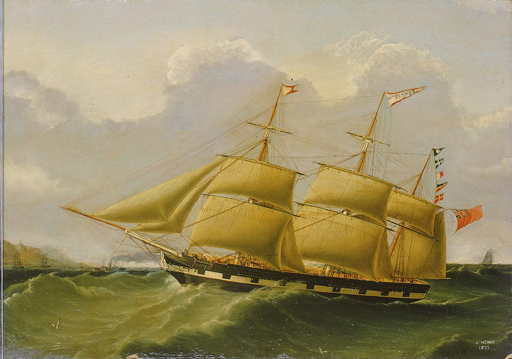 Detail of The barque 'William Fisher' by Joseph Heard
