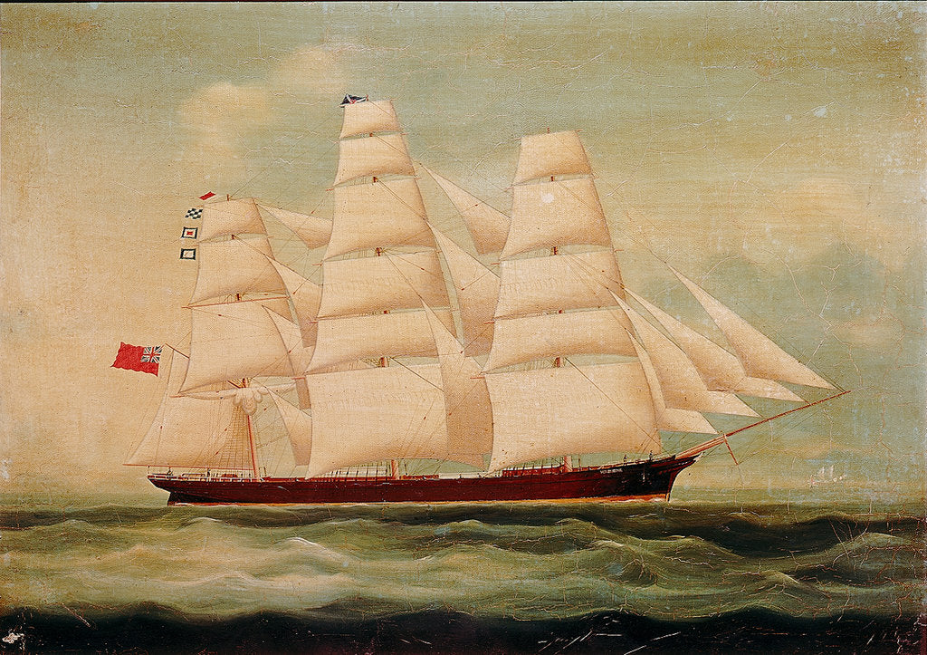 Detail of The ship 'Windhover' by British School