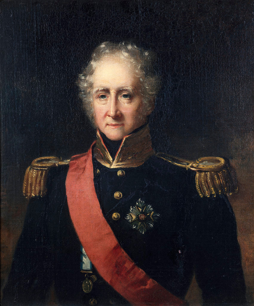 Detail of Portrait of an admiral, circa 1830 by British School