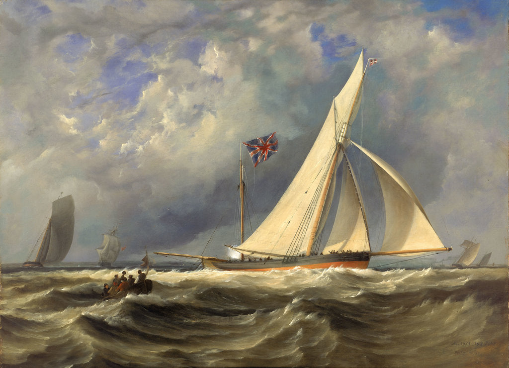 Detail of The 193 ton yacht 'Alarm' in a light swell by JM Gilbert