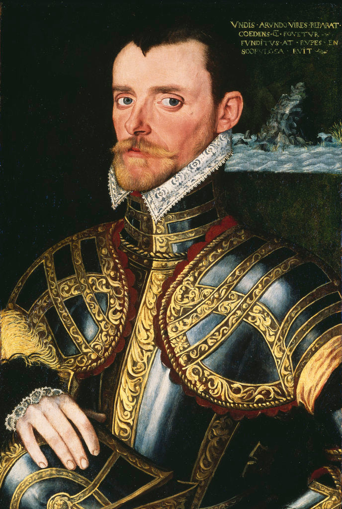 Detail of Admiral Sir Richard Hawkins (1532-1595) by English School
