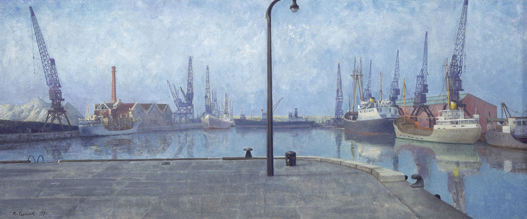 Detail of Docks at Goole, early morning, 1971 by Richard Ernst Eurich