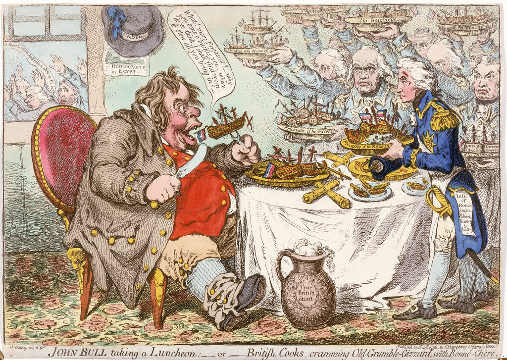 Detail of John Bull taking a Luncheon... by James Gillray