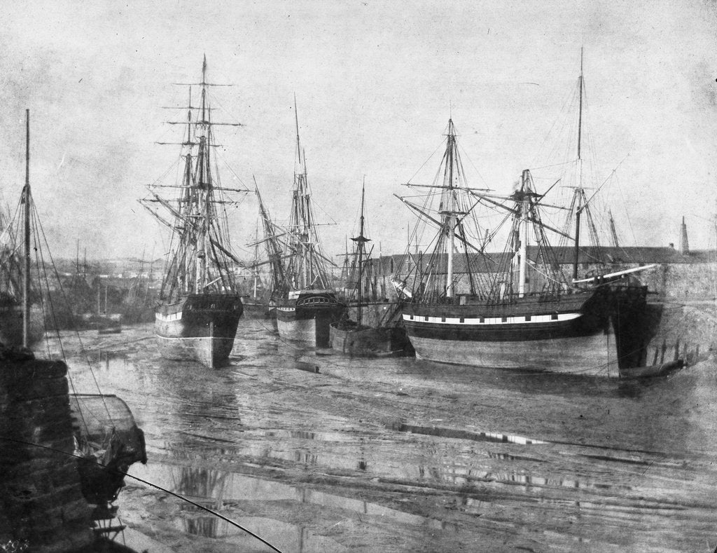 Detail of Shipping at low tide, Swansea by unknown