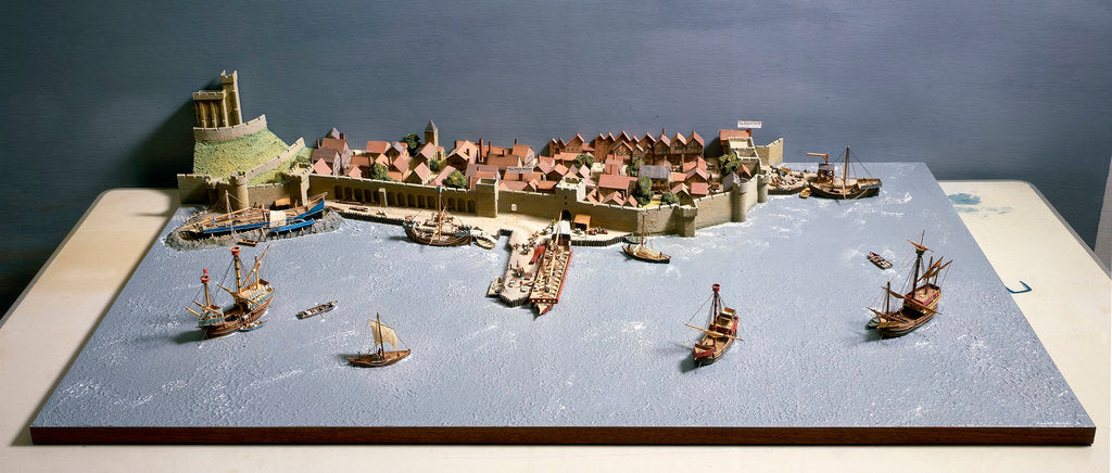 Detail of Topographic model, Port of Southampton by Kenneth Britten