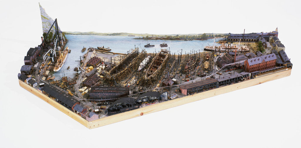 Detail of Topographic model, Denny's shipyard, Dumbarton by Michael K. Buxton