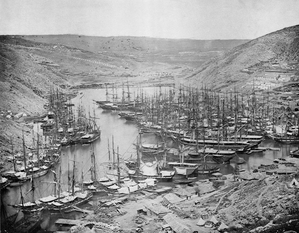 Detail of British Ships at Balaclava, 1855 by unknown