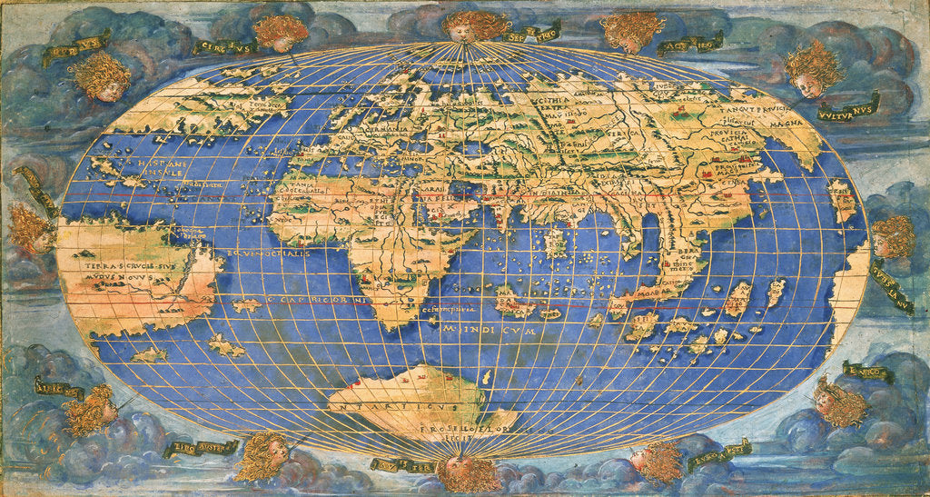 Detail of Planisphere world map by Francesco Rosselli, around 1508 by Francesco Rosselli