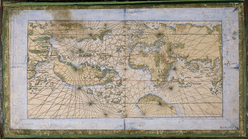 Detail of World planisphere by Francesco Rosselli
