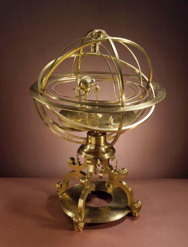 Detail of Orrery in the form of Renaissance Ptolemaic armillary sphere by Richard Glynne