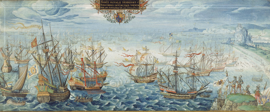 Detail of The Spanish Armada in the Strait of Dover, 1588 by Flemish School