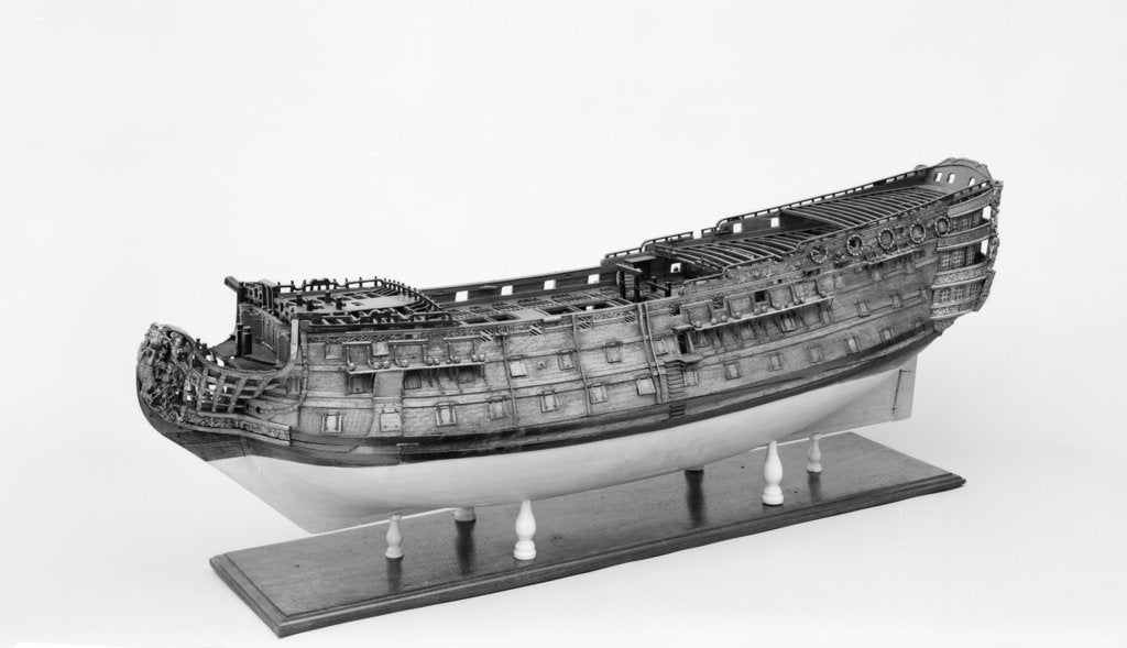 Full hull model of the 'Britannia' (1719), a 100-gun three-decker, first-rate ship of the line by unknown