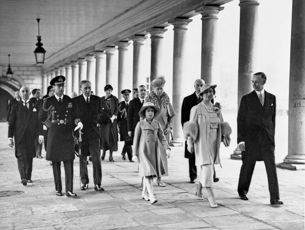 Detail of Royal opening of the National Maritime Museum by King George VI, 1937 by unknown