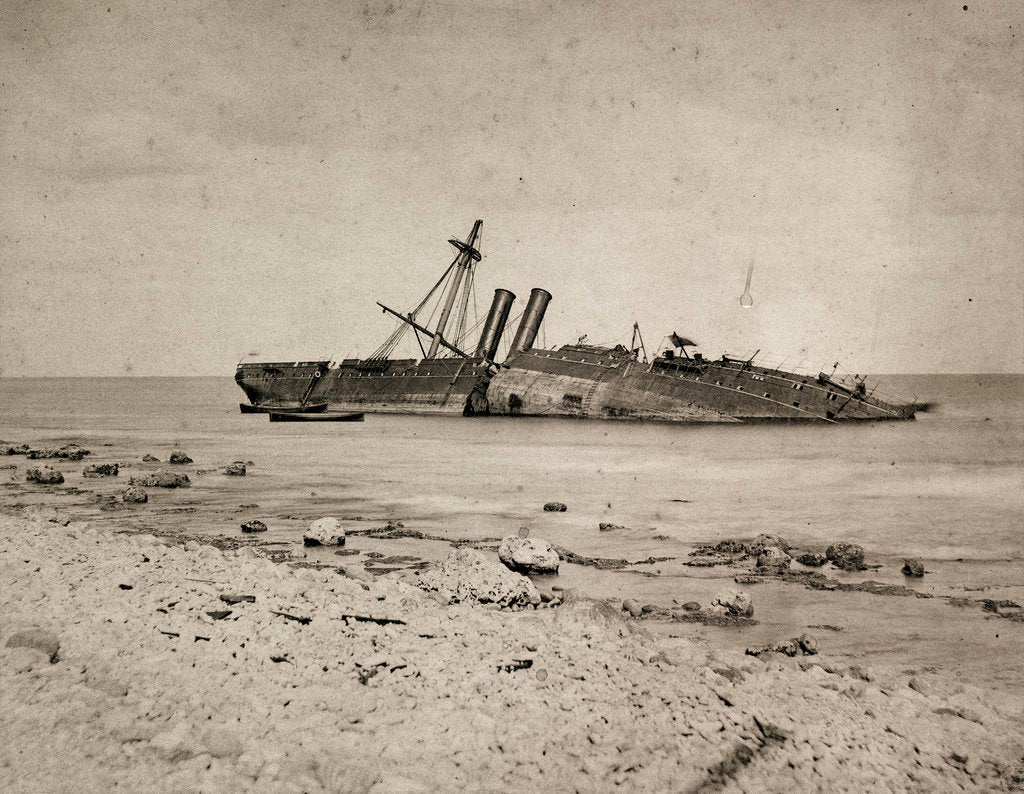Detail of 'Colombo' wrecked on Minicoy Island by unknown