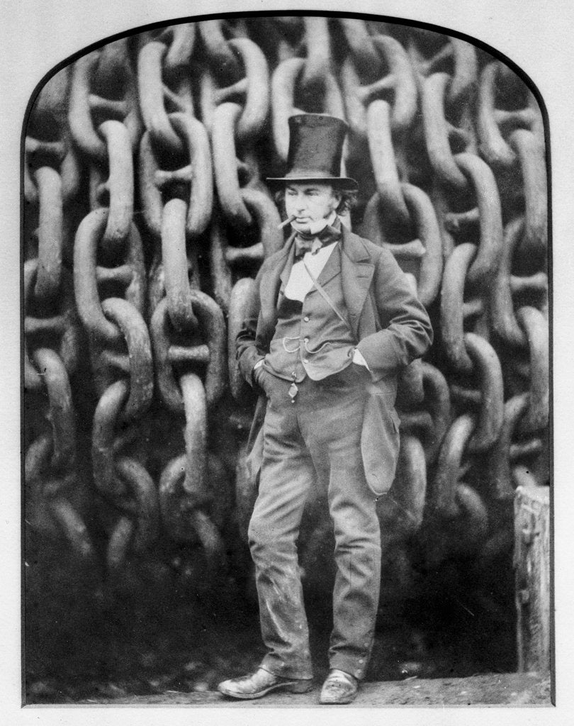 Detail of Isambard Kingdom Brunel at Millwall during the building of the 'Great Eastern' by Robert Howlett