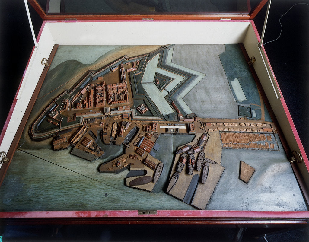 Detail of Topographic model, Royal Dockyards at Sheerness by George Stockwell