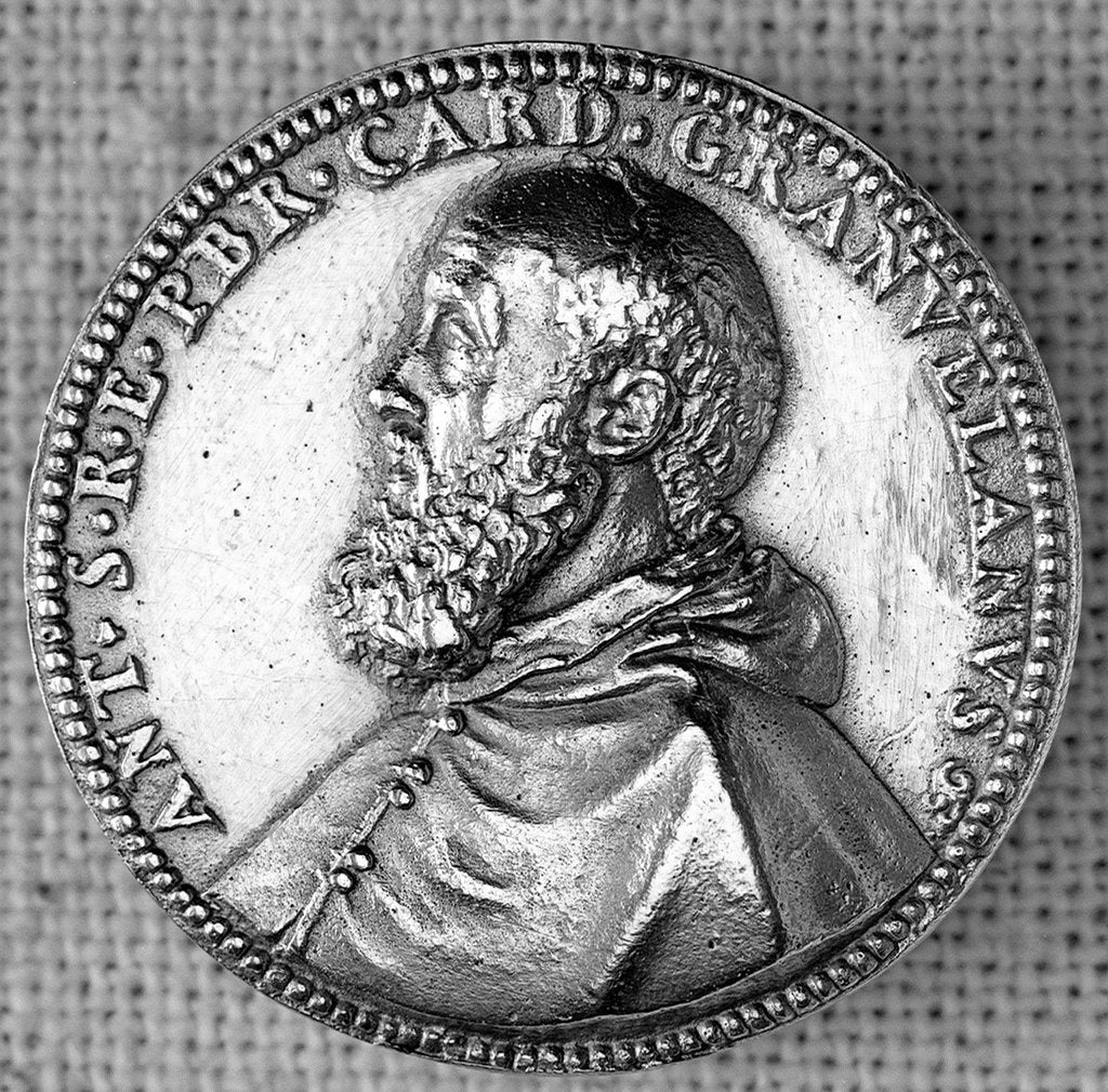 Detail of Medal commemorating Antonio Perrenot de Granvela (1516-86), Bishop of Arras, Archbishop of Malines, Cardinal & Viceroy of Naples by unknown