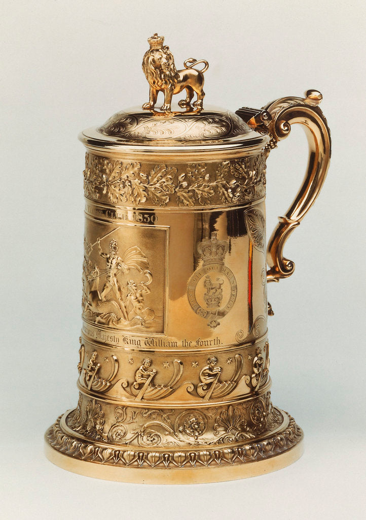 Detail of The King's Cup tankard by John Bridge 1830 by John Bridge